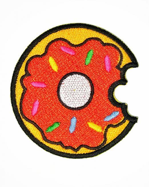 Фото нашивки пончика для одежды